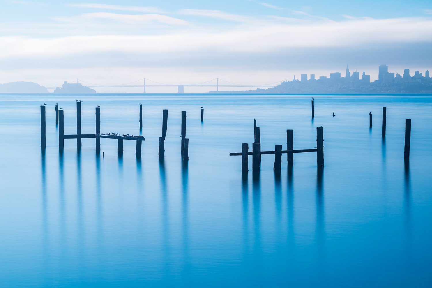 Photo Wallpaper The Old Pier Of Sausalito