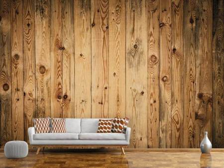 Photo Wallpaper Walnut Wood