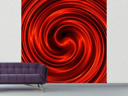 Photo Wallpaper Abstract Red Whirl