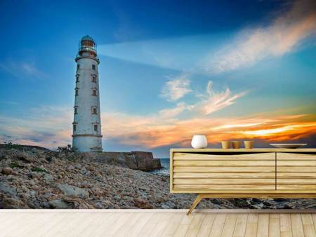 Photo Wallpaper Sunset At The Lighthouse