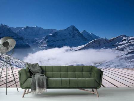 Photo Wallpaper Sun Terrace In The Swiss Alps